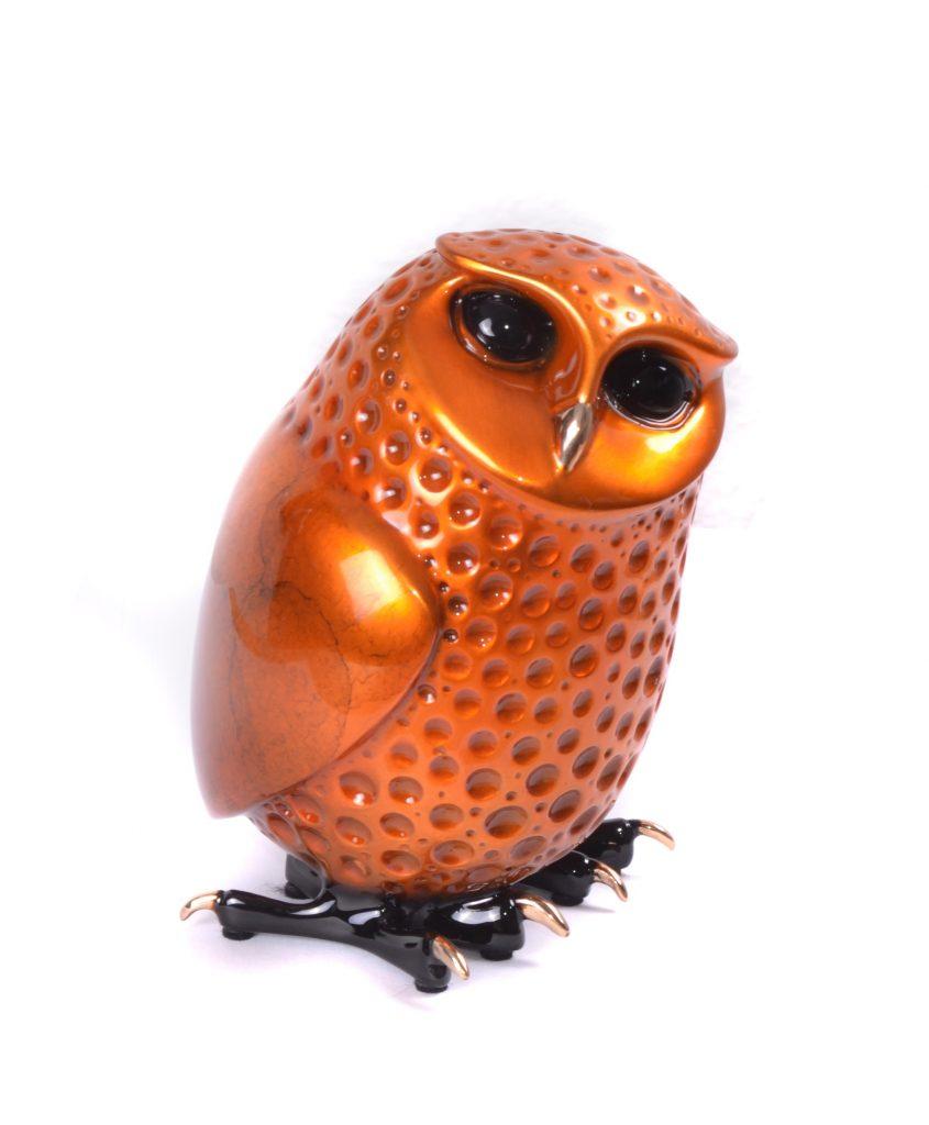Bronze sculpture owl
