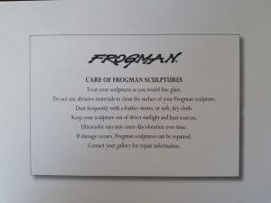 How to look after frogman bronze sculptures